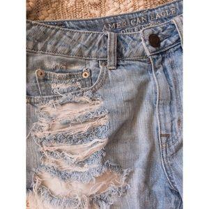 Hi-Rise Festival Distressed Jean Shorts